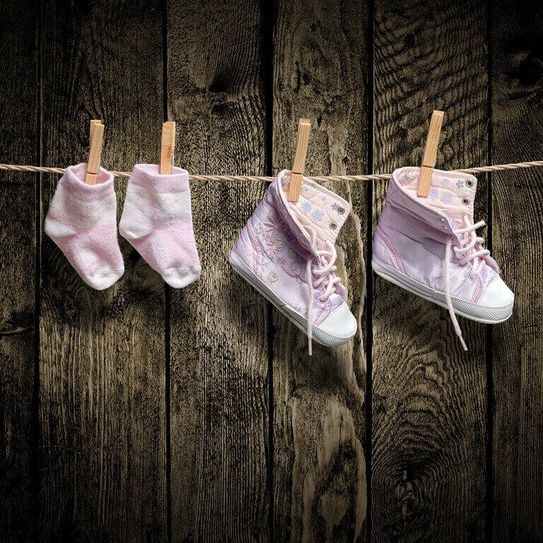 Washing and rotating shoes and socks