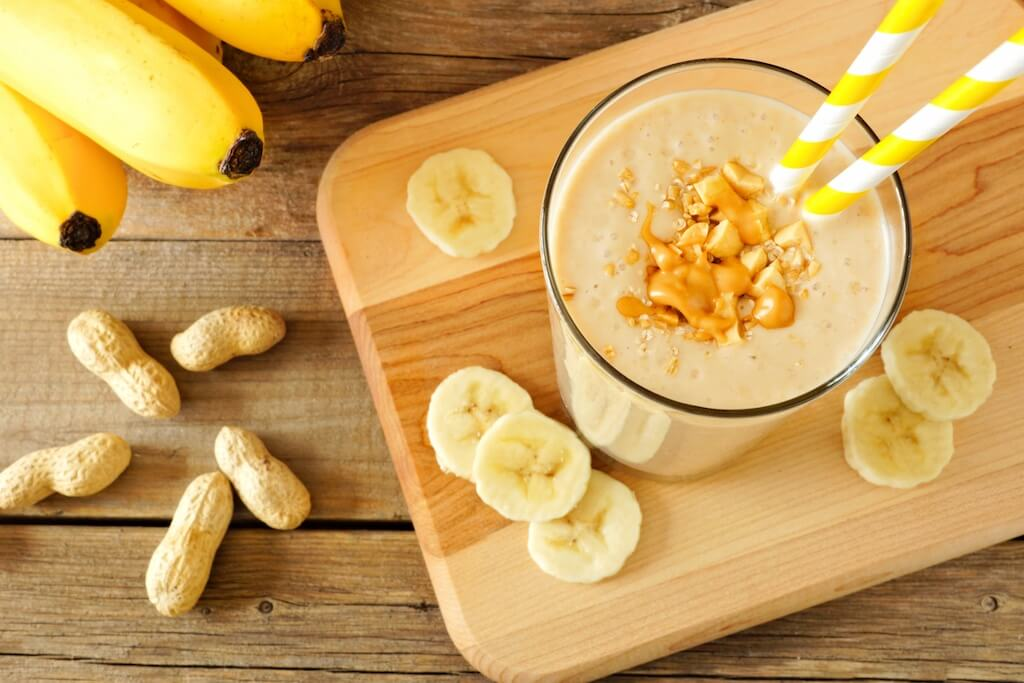 3 Peanut Butter and banana smoothie